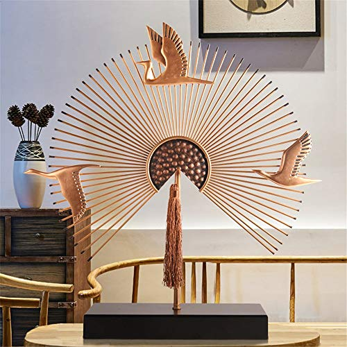 FECTY Fan-Shaped New Chinese Ornaments Living Room Office Creative Home Decoration Ornaments Home Decorations Home Decoration (Color : 37934cm) by FECTY (Image #1)
