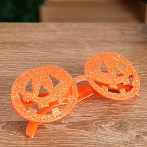 Novelty Glasses Frame, Halloween Bat Pumpkin Eye Mask Masquerade Cosplay Makeup(Pumpkin) -