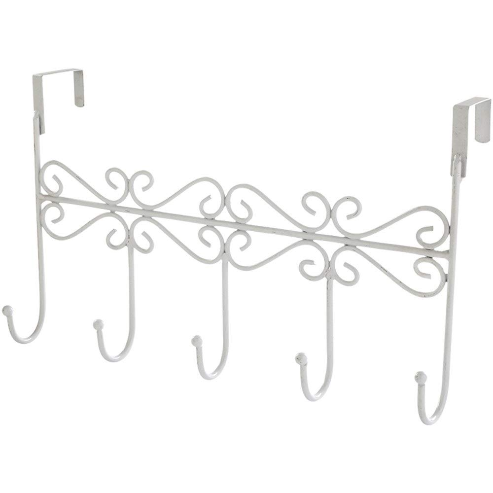 Chenjinxiang01 Hook Behind The Door, Creative Wrought Iron Without Hooks, Strong Hangers, Suitable for Bathroom Hanging Hooks, Wall Hanging Nail-Free Hangers (Color : White)