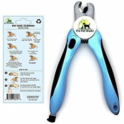 Pro Pet Works Cat and Dog Nail Clippers Trimmers With Nail File For Grooming Pets-Quick Guard Sensor Inc-The Best Dog Nail Trimmer for Small Medium and Large Breeds from Pro Pet Works