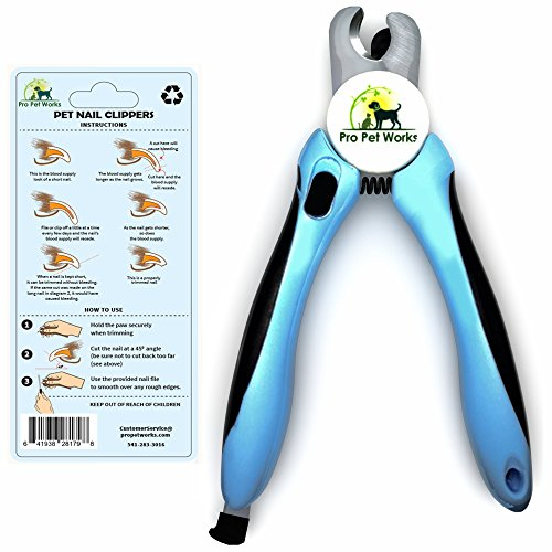 Pro Pet Works Dog Nail Clippers Trimmers With Nail File For Grooming Pets-Quick Guard Sensor Inc-The Best Dog Nail Trimmer for Small Medium and Large Breeds Image