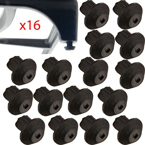 Price comparison product image fastoworld FIT 16 PACK of WB02T10461 General Electric FOR GE Gas Range Grate Rubber Feet - NEW