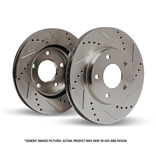 07 Gmc Sierra Cross - (Front Rotors)2 Premium Cross Drilled & Slotted Disc Brake Rotors(6lug)