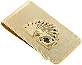 product image for JJ Weston Playing Cards Money Clip. Made in the USA.