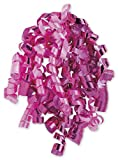 Bows - Hot Pink Curly Bows, 1/4'' Wide x 36'' Long, 12 Strands (24 Bows) - BOWS-CURL-15