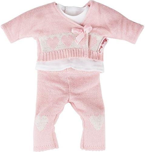 Käthe Kruse 0136652 - Strickoutfit Bekleidung, 3-teilig, rosa
