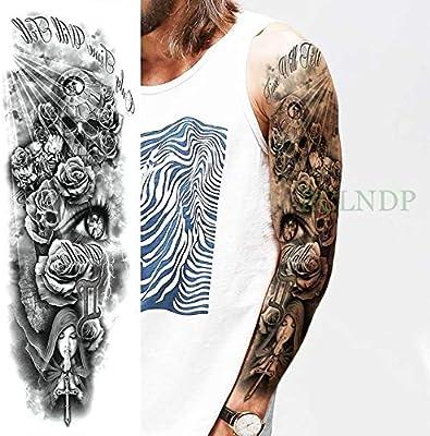3 Piezas Etiqueta de Tatuaje a Prueba de Agua Motocicleta Rose ...