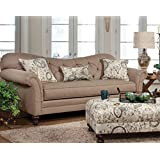 Serta Upholstery 8750S 8750S02 Restoration Style Sofa in Abington, Safari