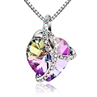 Elegant Necklace with Swarovski Crystal - Heart-shaped Pendant Jewelry that Compliments Any Outfit