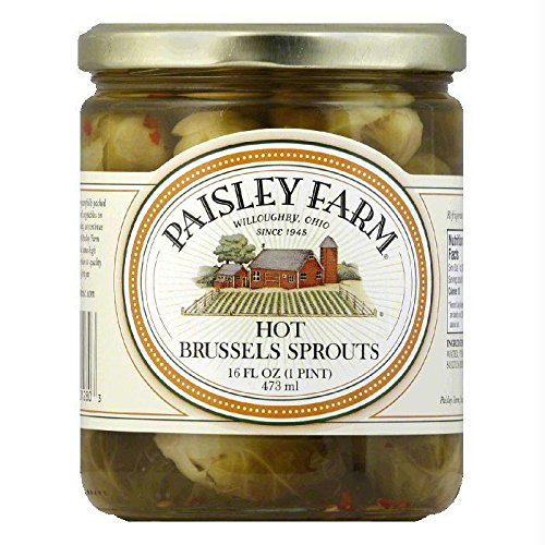 Paisley Farm Hot Brussel Sprouts, 16 Ounce (Pack of 12)