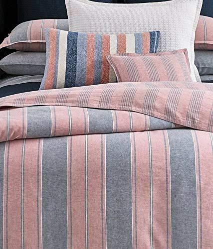 Ralph Lauren King Size Duvet Cover Oakview - Essex Stripe Sunset Red Blue (Ralph Lauren King Quilt)
