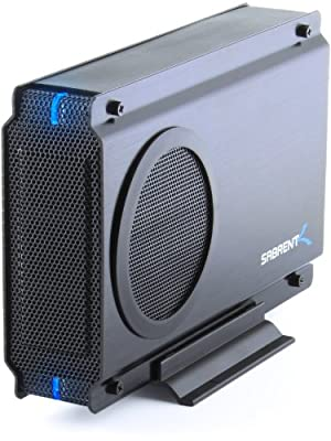 Sabrent USB 2.0/ESATA TO 3.5 Inch IDE or SATA/SATA II Aluminum Hard Drive Enclosure Case with Cooling Fan (EC-UEIS7) from Sabrent