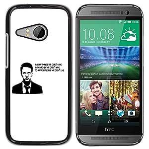 Paccase / SLIM PC / Aliminium Casa Carcasa Funda Case Cover para - Buy Thing We Need Money Have Quote - HTC ONE MINI 2 / M8 MINI