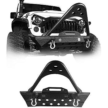Jeep Tj Towing Capacity >> Amazon.com: EAG 07-18 Jeep Wrangler JK Stinger Front Bumper Guard - Winch Plate - D-ring ...