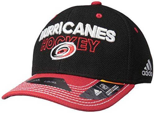 fan products of NHL Carolina Hurricanes Adult Men Pro Authentic Locker Room Structured Flex, Large/X-Large, Black