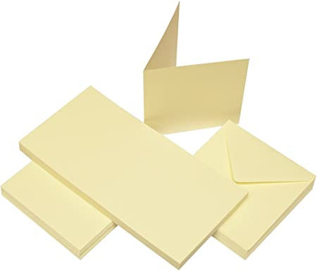 Ivory Craft UK 600 6 x 6 inch Card and Envelope pack of 50