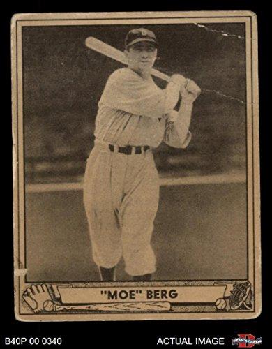 Amazoncom 1940 Play Ball 30 Moe Berg Boston Red Sox Baseball