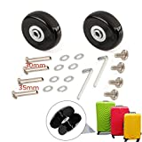 KINPAR 40MM Luggage Replacement Wheels Luggage Suitcase Replacement Wheels Kit,Axles 30MM,35MM,Deluxe Repair