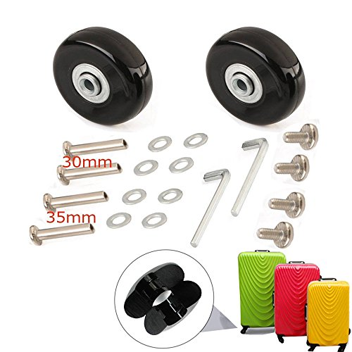 - SENDY FEATHER 45MM Luggage Replacement Wheels Luggage Suitcase Replacement Wheels Kit,Axles 30MM,35MM,Deluxe Repair