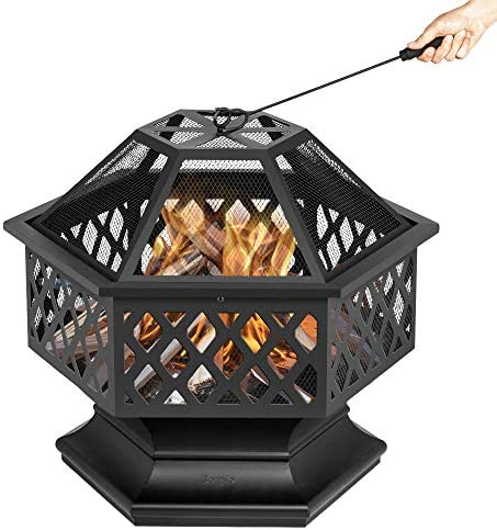 Bonnlo 24-Inch Outdoor Fire Pit