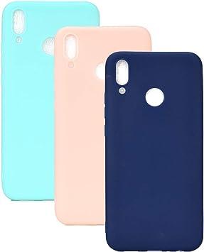 3 Couleurs Coque pour Huawei Y9 2019, Yunbaozi Protective Case Housse Caoutchouc Étui en Silicone Protecteur Gelée Bonbons Flexible Svelte Coque pour ...