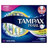 Tampax Pearl Plastic Triple Pack Light/Regular/Super Absorbency Unscented Tampons 50 Count- Packaging May Vary
