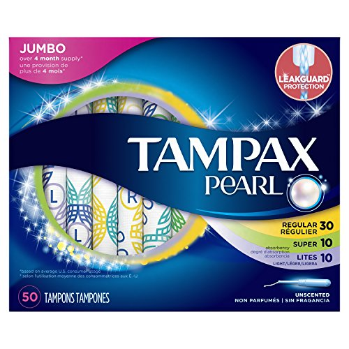 Tampax Pearl Plastic Tampons, Multipack, Light/Regular/Su...