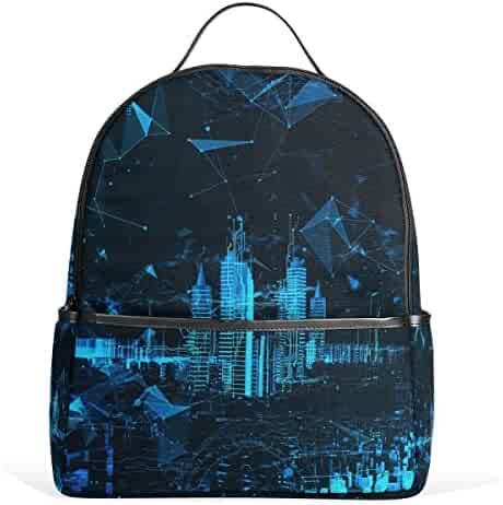 e23d4efcb5 JSTEL Abstract Futuristic City 3D School Backpack 4th 5th 6th Grade for Boys  Teen Girls Kids