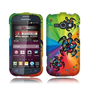 Bloutina Snap On Hard Crystal Protector Cover Case For Samsung Galaxy Ring M840 Prevail 2 - Colorful Turtle