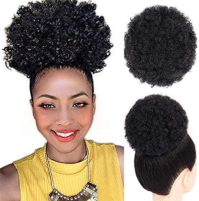8 pulgadas corto Afro Puff sintético del pelo Chignon pelo para ...
