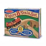 Melissa & Doug Wooden Figure 8 Train Set 22 Piece