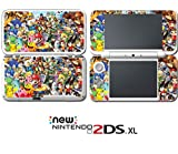 #3: Super Smash Bros Mario Link Donkey Kong Video Game Vinyl Decal Skin Sticker Cover for Nintendo New 2DS XL System Console