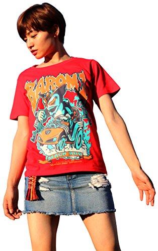 地球防衛軍秘密基地本部 2018年度 東映Tシャツコレクション 第1弾 超人バロム・1 Tシャツ 赤 サイズ:XL