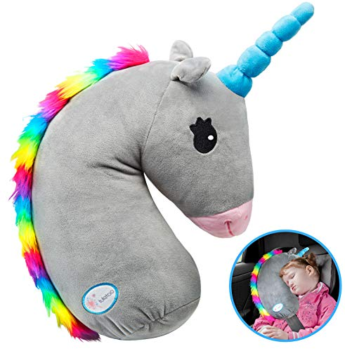 - Unicorn Seat Belt Cover, Unicorn Seat Belt Pillow, Vehicle Shoulder Pads, Safety Belt Protector Cushion for Kids, Animal Travel Pillow