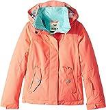 Roxy Big Girls' Jetty Solid Snow Jacket, Neon Grapefruit, 12/Large