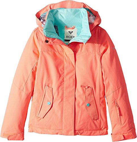Roxy Big Girls' Jetty Solid Snow Jacket, Neon Grapefruit, 16/XXL by Roxy
