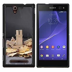 Otoño Clean Image Foto Otoño Gris- Metal de aluminio y de plástico duro Caja del teléfono - Negro - Sony Xperia C3 D2533 / C3 Dual D2502