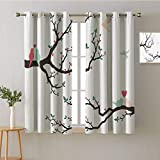 ScottDecor Curtain Decoration Grommets 2 Panel Darkening Curtains décor Darkening Curtains Blackout/Room Darkening Curtains Room/Bedroom(1 Pair, 31.5' Width Each Panel)