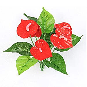Mercury_Group, Artificial & Dried Flowers 1 Bunch 30cm Fake Artificial Silk Flower Fake Anthurium Bouquet Wedding Arrangement Christmas Home Decoration 71
