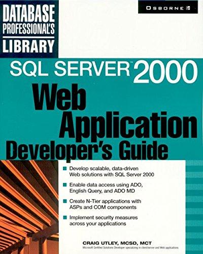 SQL Server 2000 Web Application Developer's Guide
