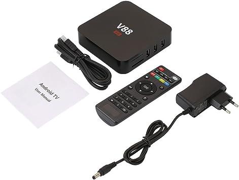 Auntwhale Media Smart TV Box Soporte WiFi 1080P 4K Android 6.0 Teclado Gratuito 1GB/RAM + 8GB/ROM Tarjetas externas Aplicaciones Web: Amazon.es: Electrónica
