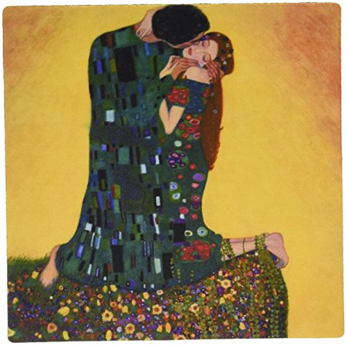 Price comparison product image 3Drose LLC 8 X 8 X 0.25 Inches Mouse Pad, Picture of Gustav Klimt Painting the Kiss Ii (Mp_119255_1)