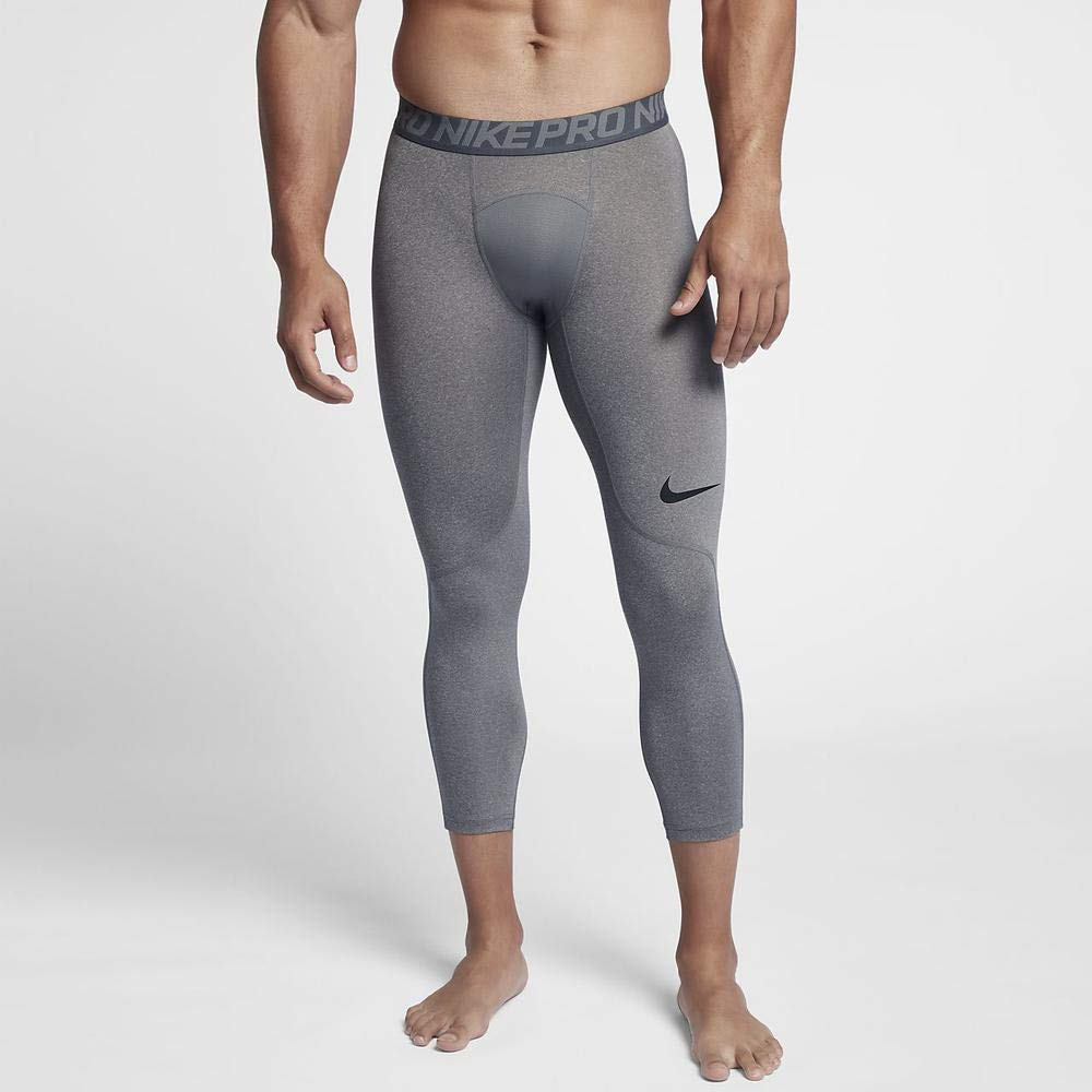 Nike Men's Pro 3qt Tight (Carbon Heather/Dark Grey/Black, Small) by Nike (Image #7)