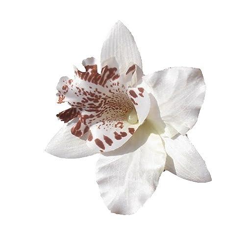 """Au Plaisir de los ojos – Alicate Cabello Boda Broche Perla """"Flor de orquídea"""""""