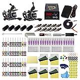Tattoo Kit for Beginners Complete Starter Tattoo Kit 2pcs Tattoo Machine Kit with Needle Cartridge Kit 40 Tattoo Inks TK1000088