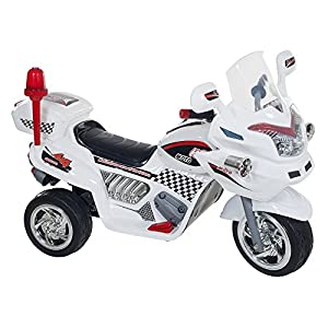Ride on Toy, 3 Wheel Motorcycle Trike for Kids, Battery Powered Ride On Toy by Lil' Rider – Ride on Toys for Boys and Girls, 2 - 6 Year Old - White