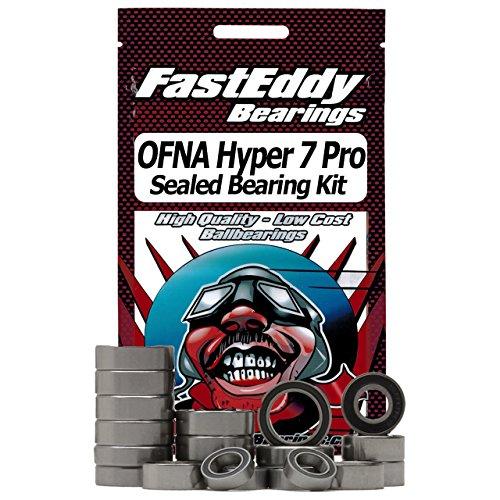 OFNA Hyper 7 Pro Sealed Ball Bearing Kit for RC Cars -  FastEddy Bearings, OFNA Hyper 7 Pro Rubber Bearing Kit