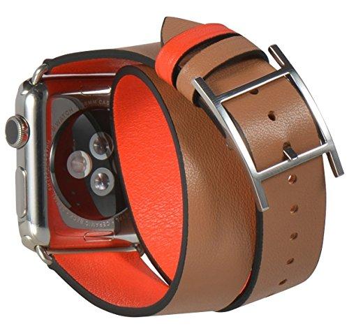 JSGJMY Replacement Watchbands SandyBrown OrangeRed