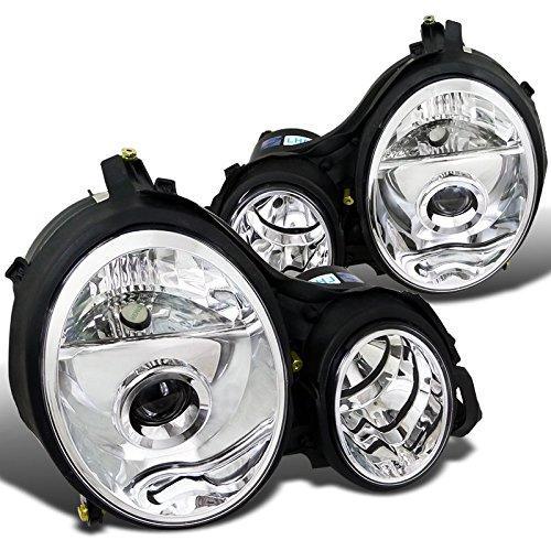 (Spec-D Tuning LHP-BW21000-APC Mercedes Benz W210 E320 E430 E-Class Clear Projector Head Lights Lamps)