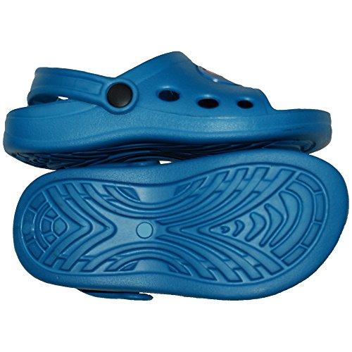 1 Paar Kinder Jungen Badelatschen, Freizeitlatschen, Badepantoletten Größe: 30, blau, bl-30
